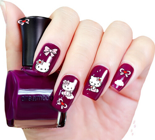 Hello Kitty Stickers For Nails Beauty Nail Art Decorations 3d Nail