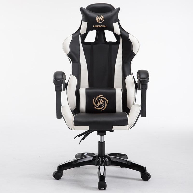 Компьютерных игр регулируемая высота геймер вращающийся подлокотник pc стул домашний офис стул Интернет стул