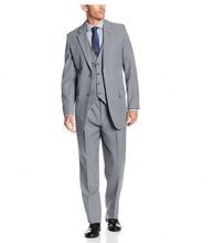 Handsome 2018 Custom Made Groom Tuxedos Groomsmen Best Man Suit Wedding Groomsman/Men Suits Bridegroom(Jacket+Pants+Vest)