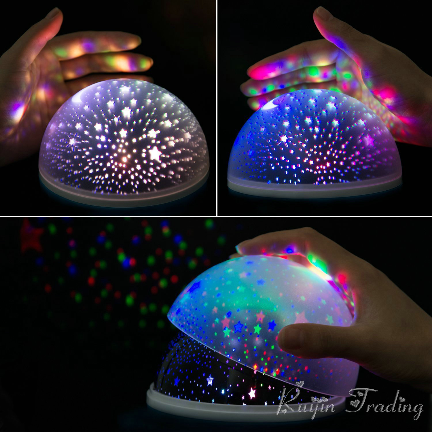 Best Kids Night Light Led Rotating Star Projector Novelty Lighting Moon Sky