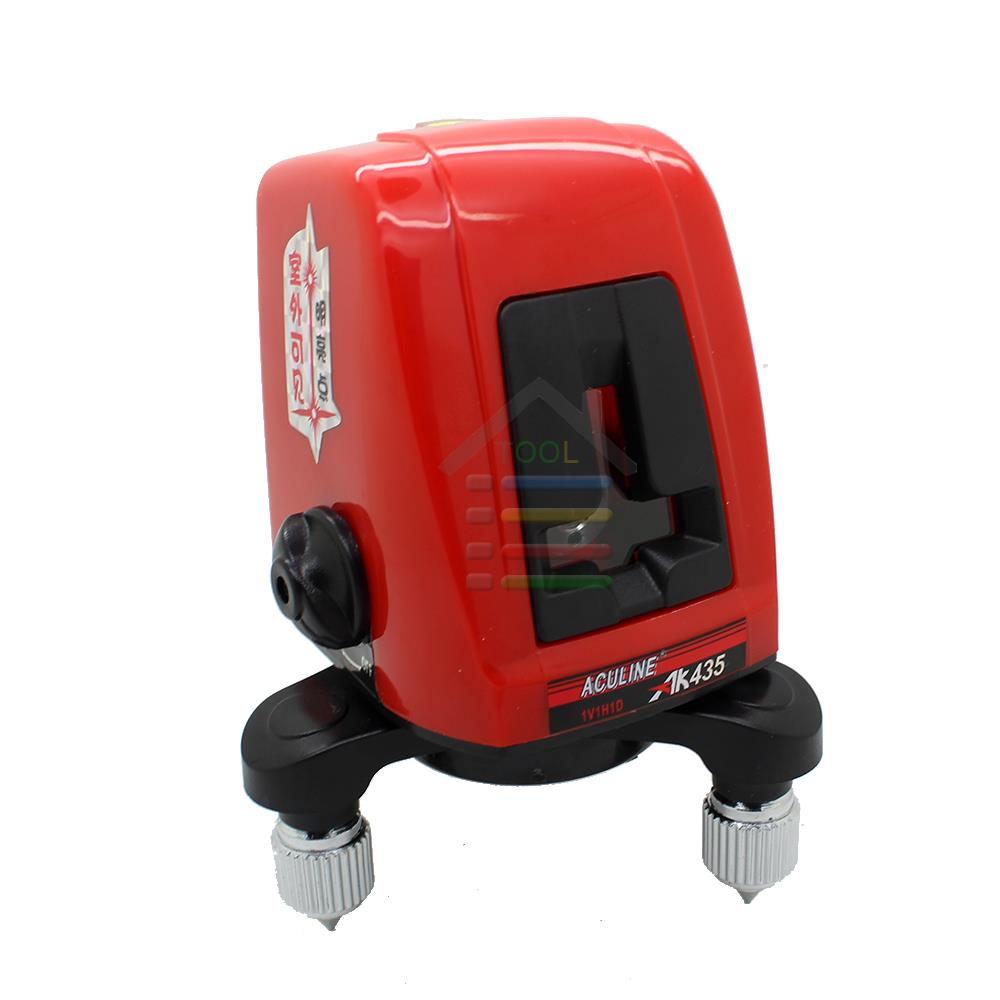ФОТО New Rotary AK435 360 Degree Self-leveling Cross Laser Level Leveler 2 Line 1 Point with Case Red Beam Laser Line Diagnostic-Tool