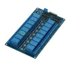 Arduino 용 양극 lm2576 전원이 장착 된 16 채널 5 v 릴레이 실드 모듈