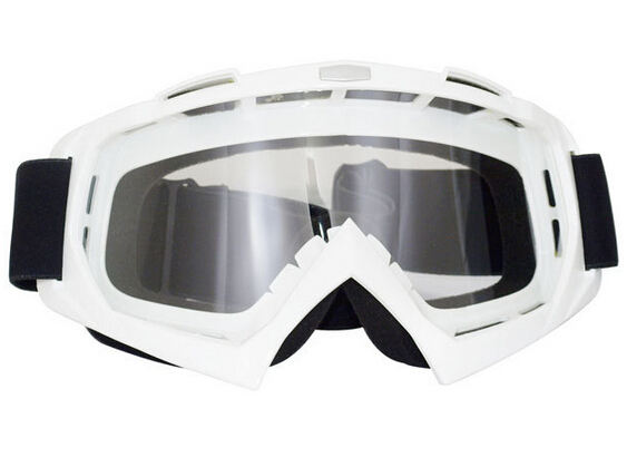 White Frame Transparent Lens Outdoor Ski Motorcycle Snowboard Off Road Dirt Bike Racing Motocross Goggles T815