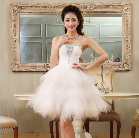 strapless brides maid princess girls bridemaid party dress for teen ...
