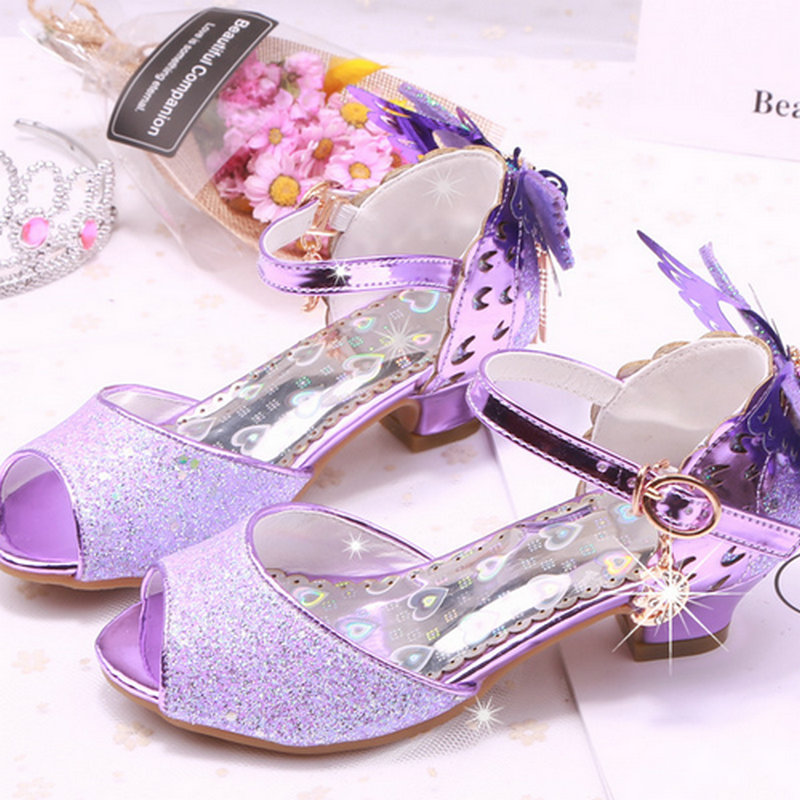 c7ce81ea65d new spring summer princess baby sandal high heels kids butterfly sandals  ice cream sandals princess sandal dress wedding shoes-in Sandals from  Mother   Kids ...