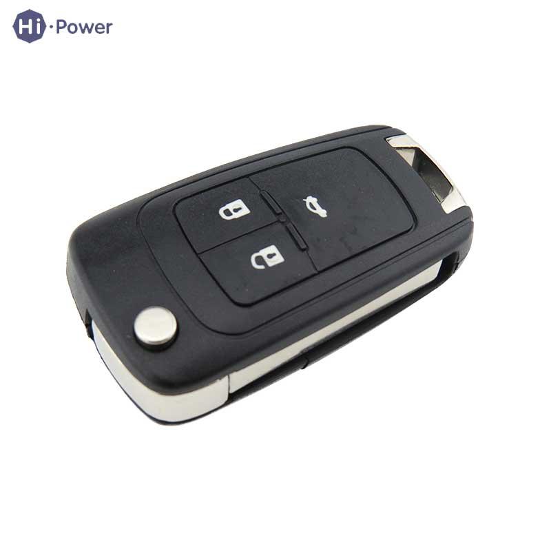 Hi-power Remote Car Key Shell Flip Folding For Chevrolet Camaro Cruze Equinox Malibu Sonic Spark Volt 3 Button Key Shell Blade