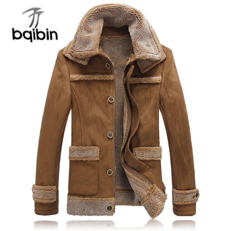 Hommes veste Faux cuir vestes et manteaux pour l'hiver épais chaud veste patchwork marque vêtements décontracté daim homme manteau