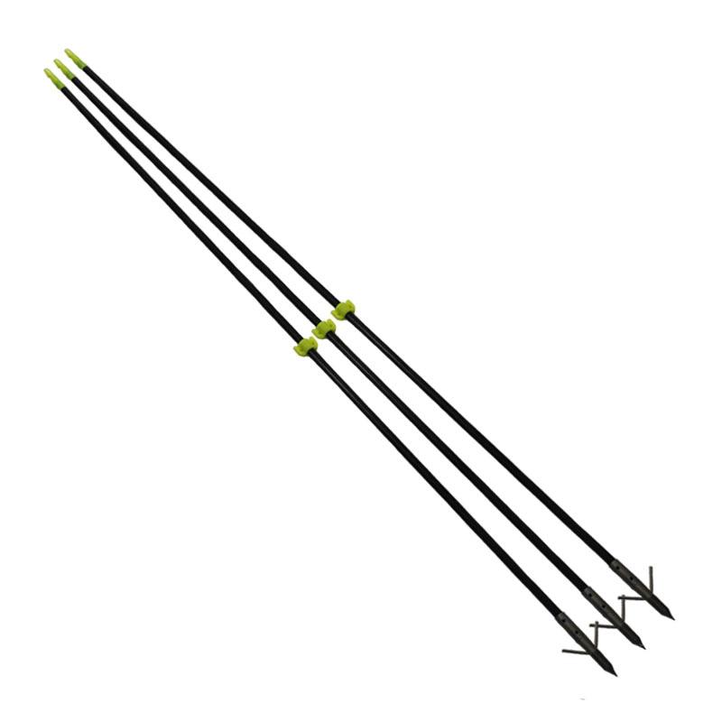 """3 ks / lot Nový 35 """"dlouhý luk rybaření masivní skleněná vlákna šipky 8 mm pro složené / opakované luk"""