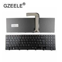 Gzeele sp teclado الاسبانية keyboard لديل انسبايرون 15r n5110 m5110 n 5110 الإطار الأسود أسود-في لوحات المفاتيح البديلة من الكمبيوتر والمكتب على
