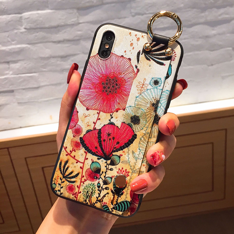 for iphone6 case 6s plus Painted relief 7 mobile phone shell 7plus drop X protective sleeve 8 plus noble and beautiful soft case