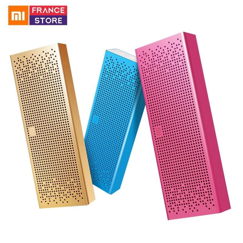 Original Xiaomi Bluetooth Speaker Square Box Mini Wireless Metel Stereo Portable MP3 Player Handsfree Bluetooth 4.0 for Xiaomi