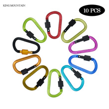 8pcs/lot High quality Outdoor Sports Aluminium Alloy Safety Buckle Keychain Hook Climbing Button Carabiner Hiking