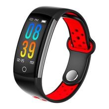 Q6 Smart Band IP68 Waterproof Sport Men Bracelet Blood Pressure Heart Rate 0.96 Inch Color Screen Wristband Activity Tracker