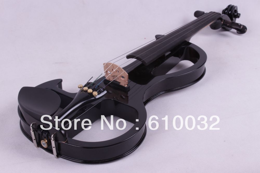 black 4/4 4 String Electric Violin Solid wood hand style 2 4 #