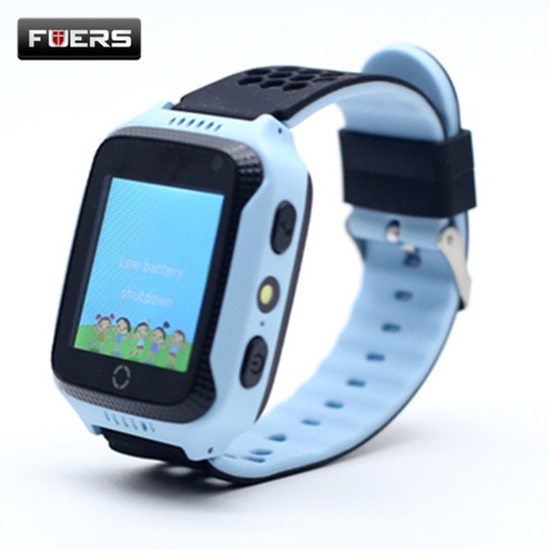 Fuers English Menu Child GPS Tracker SOS Call Location Locator Monitoring Position Phone Kids GPS Watch Anti Lost Monitor GW100
