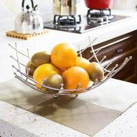 Fashion wave shaped stainless steel fashion water fruit basket fruit plate shelf