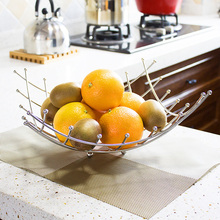 Fashion wave shaped stainless steel fashion water fruit basket plate shelf