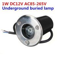 1W LED Underground Lamp IP67 AC85 265V or DC12V LED Landscape Lighting Garden Lamp Warm White/Cold White/Red/Green/Blue/Yellow led underground lamp underground lamp led underground -