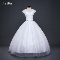 Darmowa Wysyłka Biały lub Czerwony Tanie Koronki Suknia Ślubna Księżniczka Sukienki ślubne Lace up Fashion Vestidos De Novia suknia balowa HS587