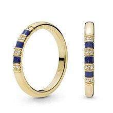 639bfc83c408 Anillo de Plata de Ley 925 Original Pandora Shine piedras exóticas y anillo  de rayas para mujer regalo de boda joyería fina
