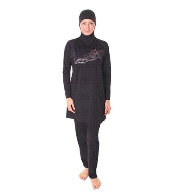 2405c42f9cb modest Muslim swimwear swimsuit for Islamic women beach swim wear hijab  swimming suit with string plus size