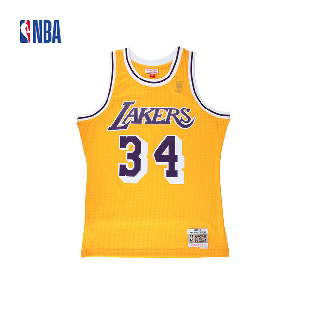 innovative design 5d0c6 b20eb switzerland los angeles lakers 34 shaquille oneal white ...