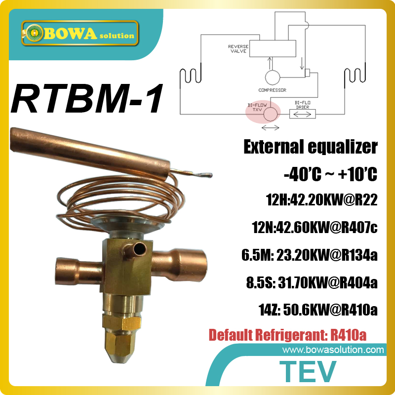 RTBM-1 thermal expansion valve can work alone, don't need any supplementary as EEV (electronic expansion valves) 3 5kw electronic expansion valve eev suitable for kinds of small capacity equipment replace danfoss electronic expansion valve