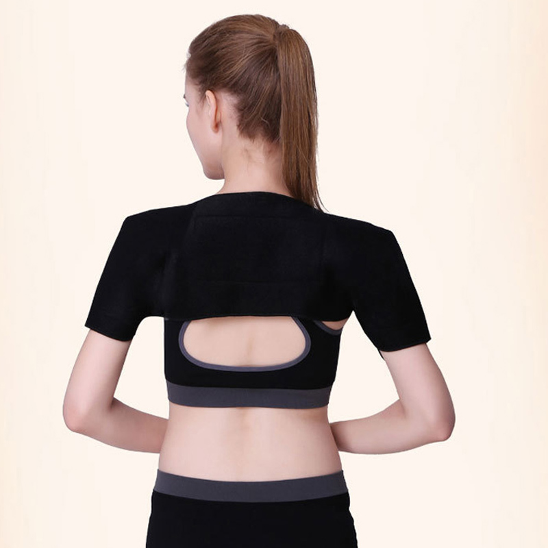 Tourmaline  Self-heating Shoulder Magnetic Therapy Support Brace Belt For The Back Posture +1 pcs Neck Support Brace Belt self heating magnetic therapy pain relief wrist band brace strap support black pair