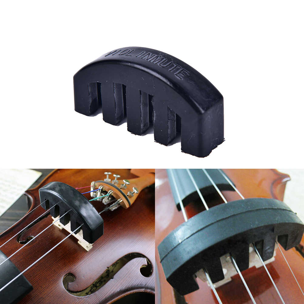 Violin Practice Mute  Violin Practice Mute Heavy Black Rubber Violin Silencer Acoustic Electric