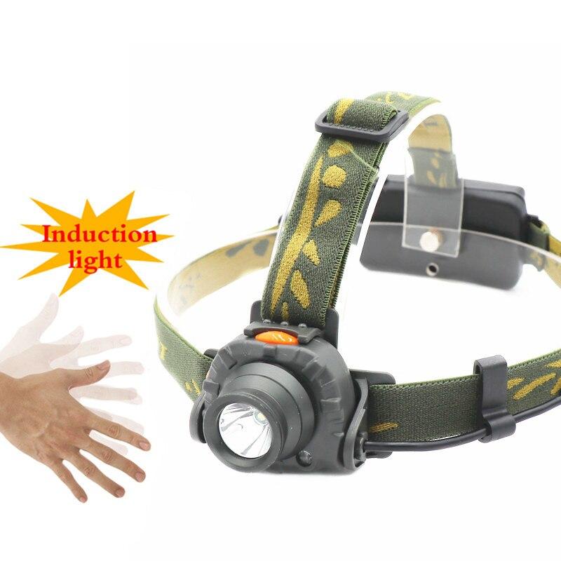 800LM IR Sensor LED Headlight 100M Distance AAA 18650 Battery Headlamp Lantern Camping Hunting Fishing White Light Head Torch