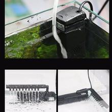 3 In 1 Silent Internal Aquarium Filter Submersible Water Pump Filter overflow