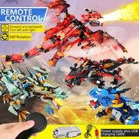 ninja RC Anime Action Figure Remote Control Mecha Dragon Ninjagoings Building Blocks Toys Children Birthday Gift Bricks