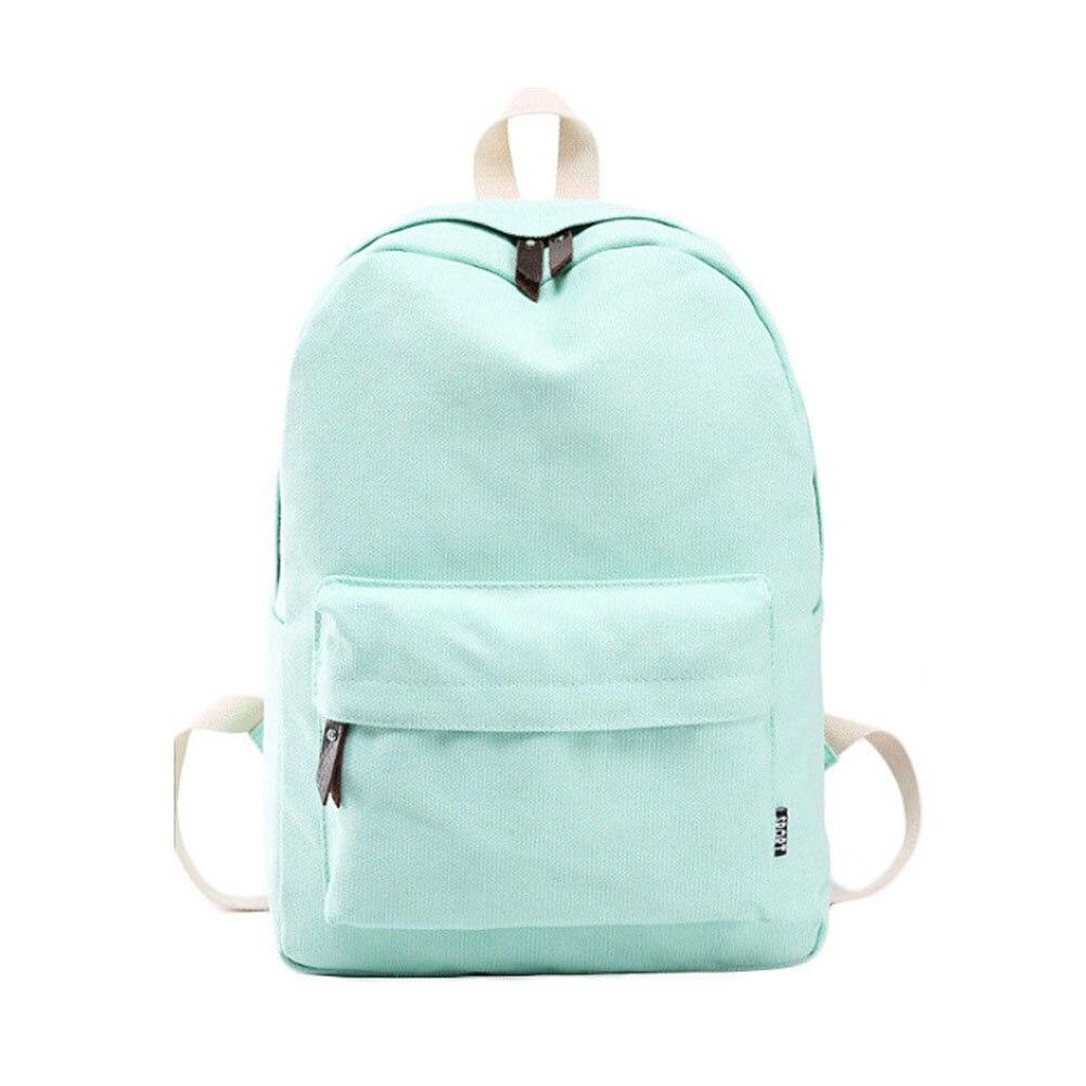 Обувь для девочек Для женщин холст школьная сумка Дорожная Рюкзак сумка рюкзак Лот № 6 зеленый