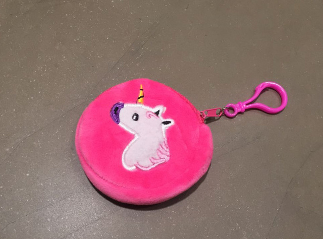 945b104dd68e Kawaii Little Unicorn 8CM Key Clip Plush Stuffed Toy Mini Coin BAG ...