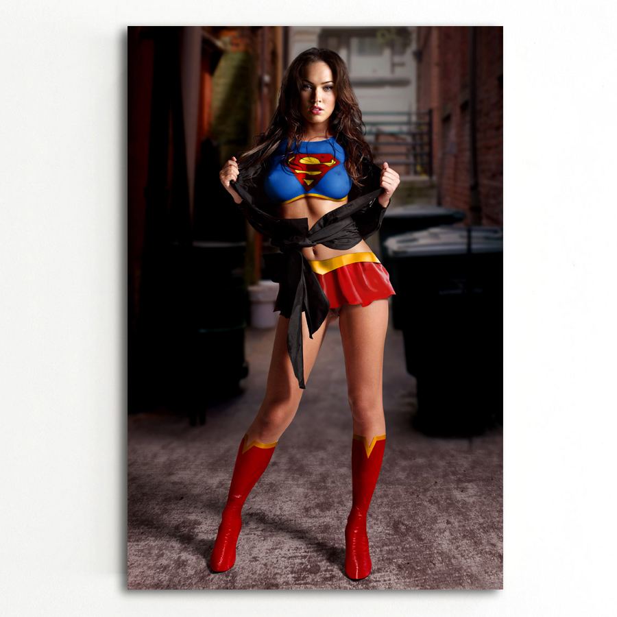 Wall Art Picture Sexy Women Megan Fox Super Girl Body Art Posters and Prints Canvas Art Paintings For Room Decor 1