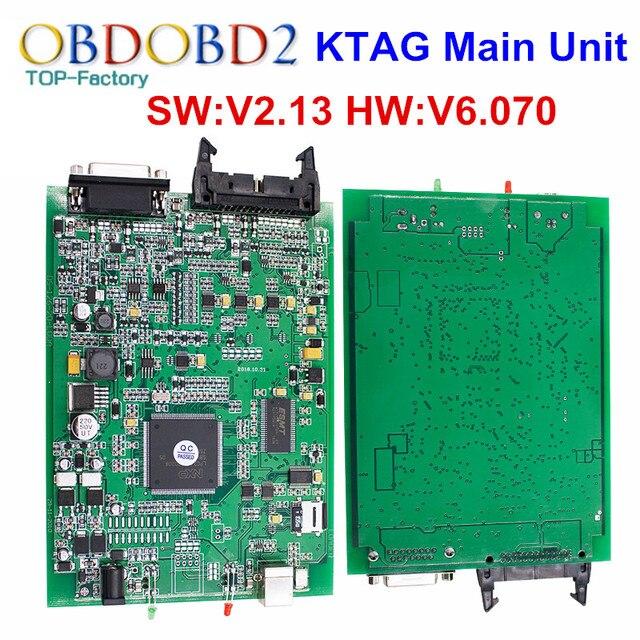 Основной Блок V2.13 KTAG К TAG FW V6.070 К-TAG ECU Программируя Инструмент Мастер Версия Без Лексем Ограничено Несколькими Языками свободный Корабль