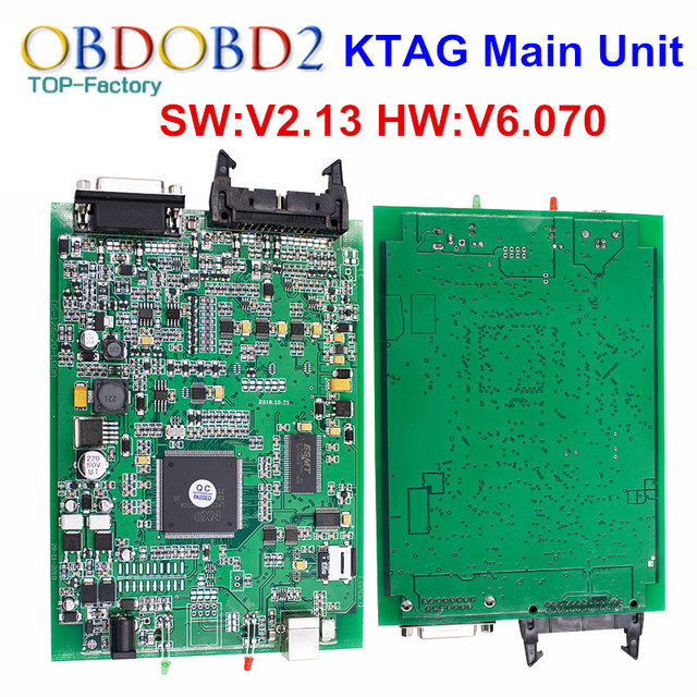 Main Unit KTAG V2.13 K TAG FW V6.070 ECU Programming Tool K-TAG Master Version No Tokens Limited Multi-Languages Free Ship