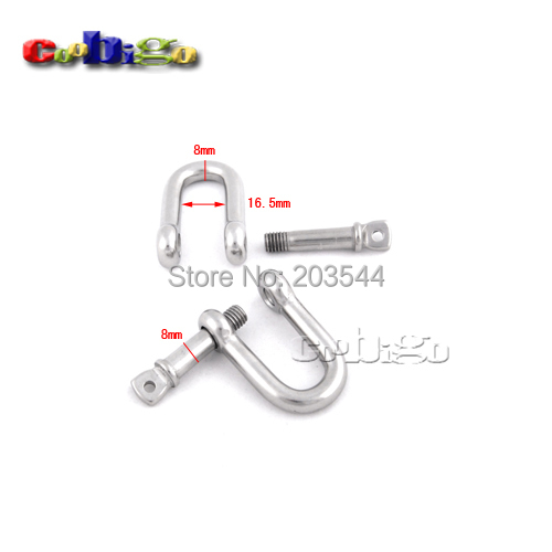 5pcs pack m8 8mm stainless steel d shackle rigging steel