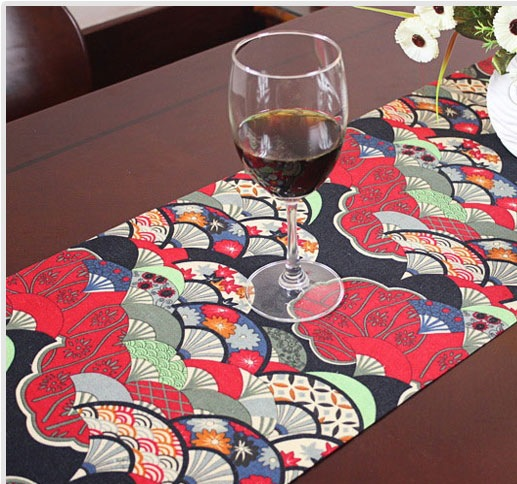 Table Runner Embroidered Simplicity Classical Chinese Of Type Style Fan Bed  Runner Cotton Linen Pastoral Multicolor