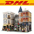 2017 New LEPIN 15019 4002pcs Assembly Square Creator City Series  Model Building Kits toy Blocks Bricks Compatible Toys Gift