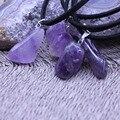 Natural de Cuarzo Amatista Piedras Preciosas Encantos collares Irregular Reiki colgantes gargantilla de Joyería de Moda collar de Cadena