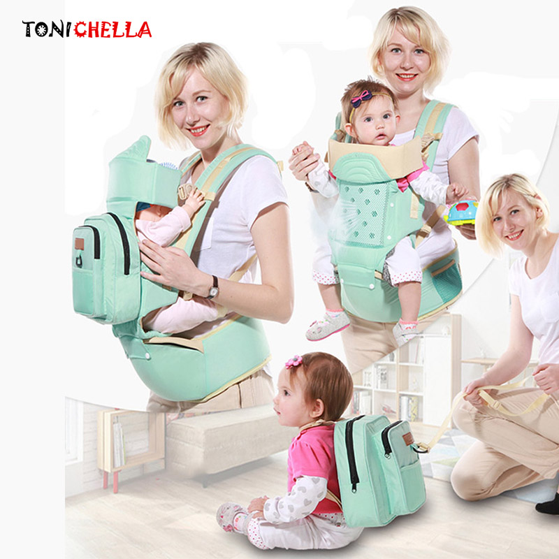 Baby Carrier Toddler Sling Infant Ergonomic Backpack Hip Seat Newborn Kids Pouch Wrap Kangaroo Carriers With Mummy Bags BB3031 gabesy baby carrier ergonomic carrier backpack hipseat