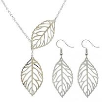 Fashion Jewelry Simple Personality Wild Temperament Leaf Pendant Necklace Female