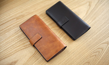 LAN Free Shipping original type of high-grade handmade men's long leather wallet  first layer of leather hand bag
