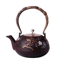 European style Japanese southern old iron pot teapot uncoated iron home bubble teapots 1200ML