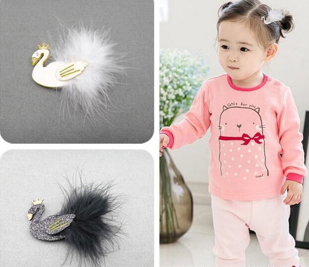 2017 Nové krásné černé bílé labutě na vlasy, klipy, výkon, dítě, vlasy, příslušenství, Noble, děti, čelenka, dívka, příslušenství