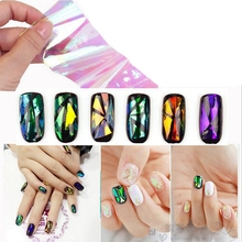 New Arrival Nail Stickers Fashion Aurora Stickers Nail Stickers All Paste Nail Star Empty Cellophane DIY Nail Stickers 5 * 20CM