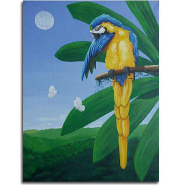 Pájaros diamante bordado loro pinturas rhinestones animales chino ...