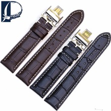 Pesno New Arrived 14 18 19 20 21mm Men and Women Genuine Leather Buckle Strap Charm Watch Band for Longines Master Collection
