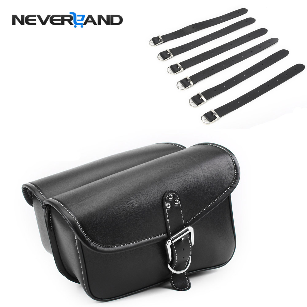2pc Universal Motor Synthetic Leather Pannier Motorcycle Saddle Side Tool Bag For Harley Dyna Touring for Kawasaki D35